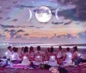 Vollemaan cirkel vrouwen Adisa Healing